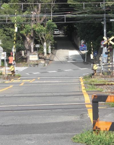 JR山崎駅の踏み切り