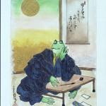 天王山のカエルがロシアに?日本民話の「京都の蛙と大阪の蛙」展覧会 枚方市の「アートサロン・ムーザ」にて