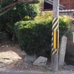 東黒門跡(石敢當)と西黒門跡