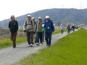 「水辺の散策」三川合流の水辺を歩く